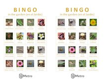 Garden bingo cards E and F