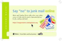 Junk mail postcard