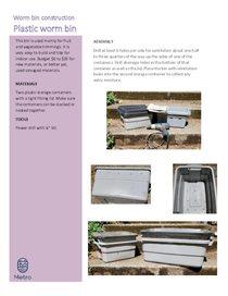 Instrucciones para un contenedor de compostaje de lombrices hecho de recipientes de plástico – solo en inglés