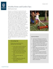 Lawn overseeding and home disinfecting tips