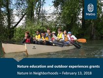 Presentation about Nature Education and Outdoor Experiences grants