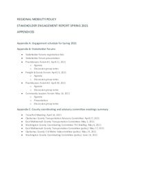 Appendices Engagement Summary - Spring 2021
