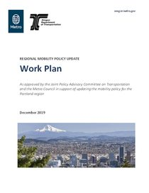 Regional mobility policy work plan