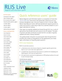 RLIS Live quick reference users guide