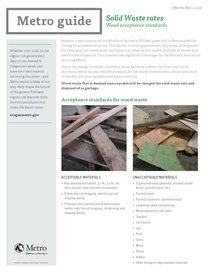 Wood acceptance standards factsheet