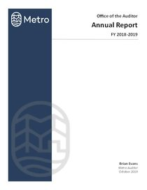 Metro Auditor Annual Report 2019