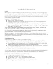 Sponsorship criteria
