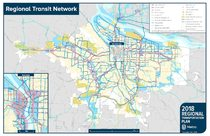 Regional transit network map
