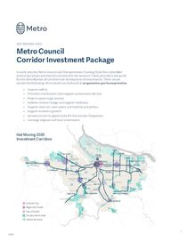 Get Moving 2020: Final Corridor Investment Package