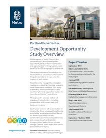 Portland Expo Center development opportunity study overview