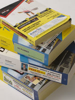 photo of a stack of phone books