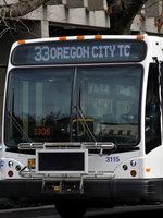 photo of TriMet bus 35 in Oregon City
