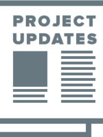 project update pictogram, square