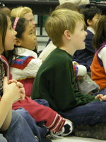 photo of kids watching a school presentation