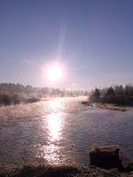 photo of the Clackamas River near River Island