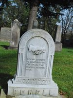 photo of a gravestone at Gresham Pioneer Cemetery