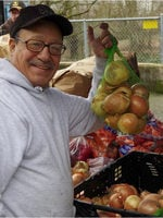 photo of man at farmers market