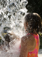 photo of a girl at the spray ground