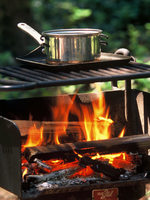 Cooking over the campfire at Oxbow Park