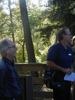 Jim Sallis on a walking tour in Tigard