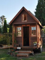 A tiny house on a sunny day in Portland