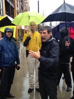 Mark Fenton leads a walking tour in downtown Beaverton