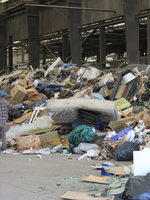 Bay 1 at Metro Central holds a heap of mixed garbage.