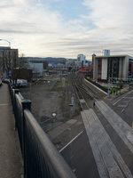 Downtown Portland bridge, railroad, road, MAX, car