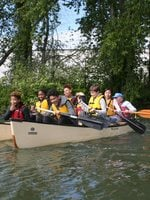 photo of George Middle School students paddling in Columbia Slough