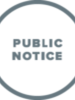 pictogram of a public notice