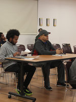 Image of students meeting Tuesday and Thursday evenings for class at the Muslim Educational Trust center in Tigard