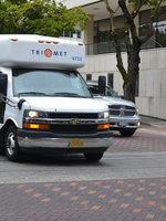 TriMet's paratransit shuttle LIFT on the road