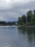 looking upriver from the Tryon Cove boat launch