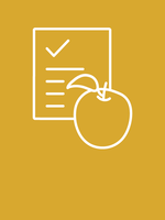 illustration of apple and checklist