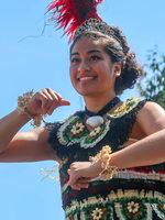 Tongan girl dancer at Tonga cultural celebration