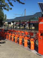 Biketown station near MAX stop