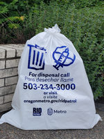 Metro bag program trash bag