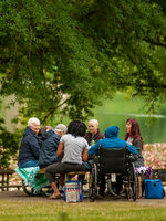 photo of people enjoying a picnic at Blue Lake Regional Park