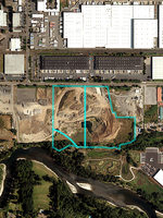 A satellite image of property that could be the future Metro South transfer center