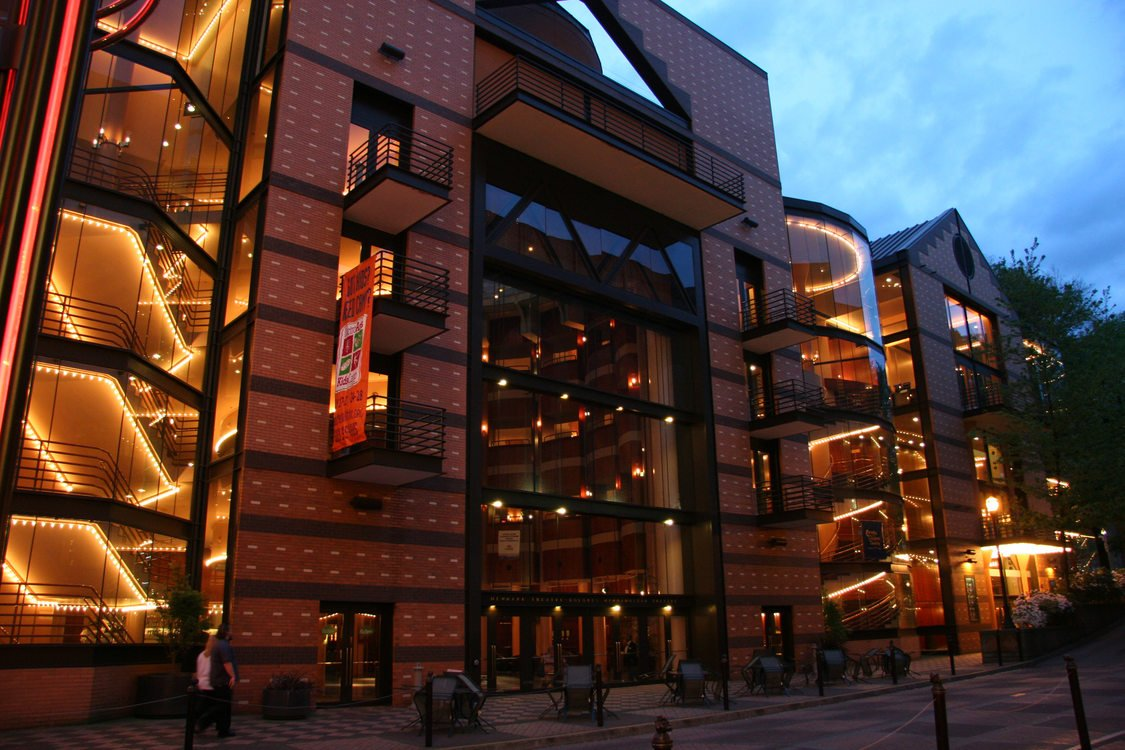 photo of the exterior of Antoinette Hatfield Hall