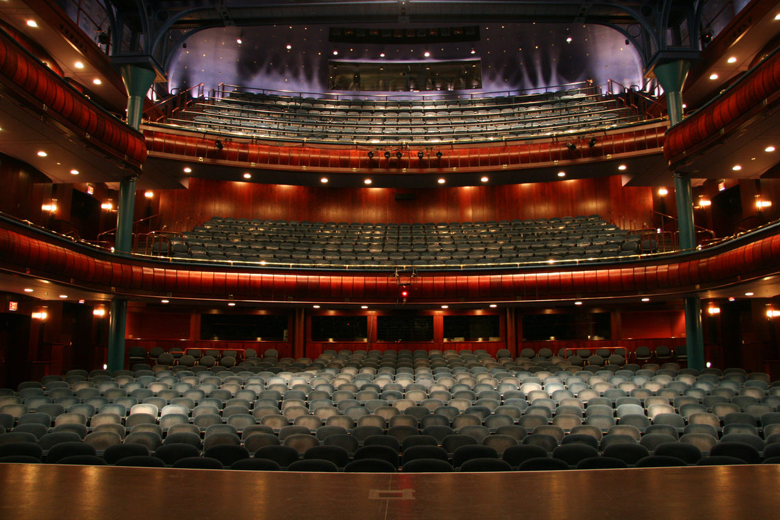 photo of the interior of Newmark Theatre