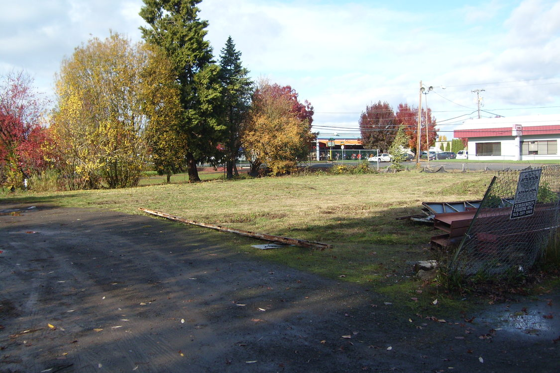 a photo of the brownfield before improvement