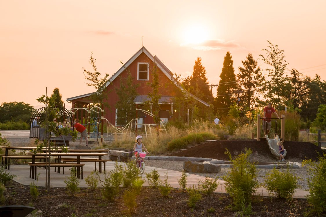 photo of the nature house and playground at Cooper Mountain
