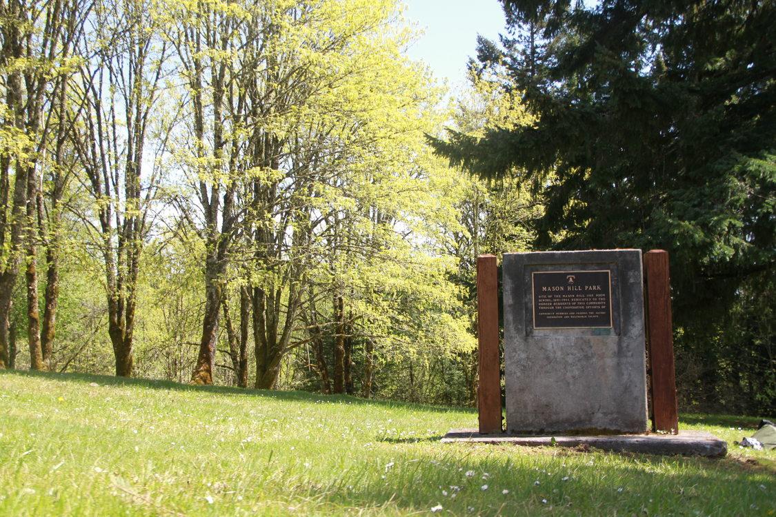 photo of the Mason Hill Park sign