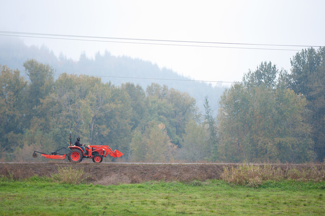 tractor on Sauvie Island