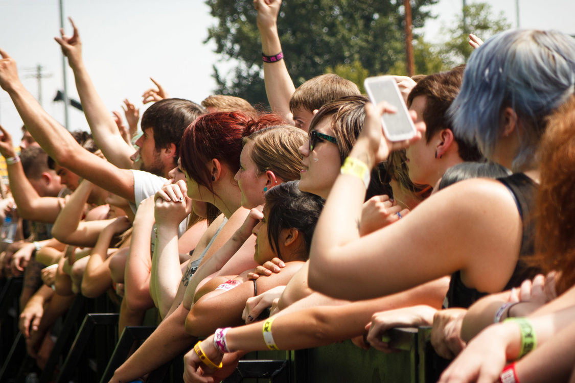 photo of attenees of the Vans Warped Tour