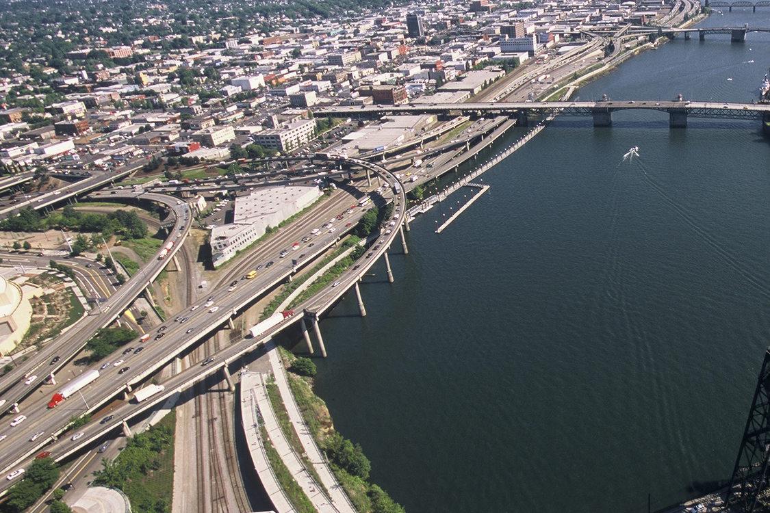 aerial photo of Portland's eastside