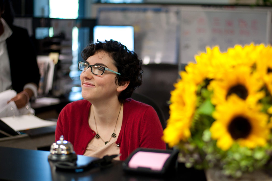 photo of receptionist