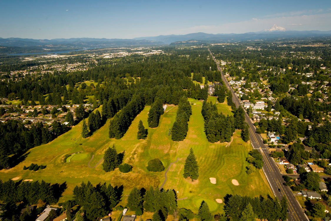 aerial photo of Glendoveer Golf Course