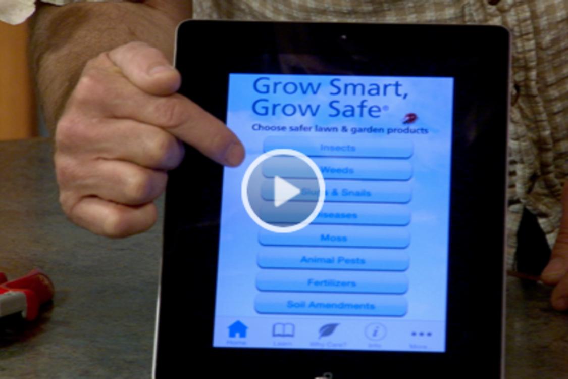 screenshot of the Grow Smart Grow Safe app in use